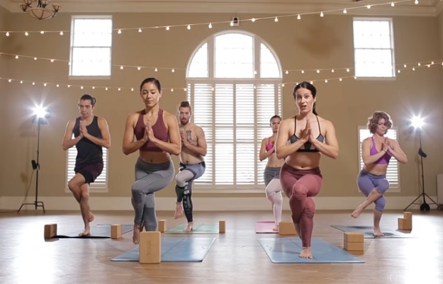 Power yoga HIIT workout video