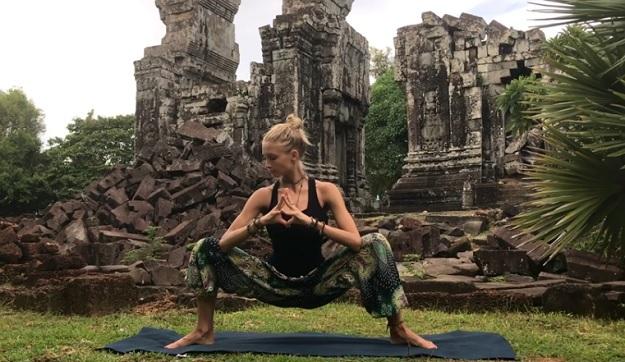 Yoga workout for hip flexibility