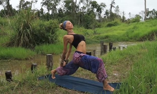Vinyasa flow yoga workout video