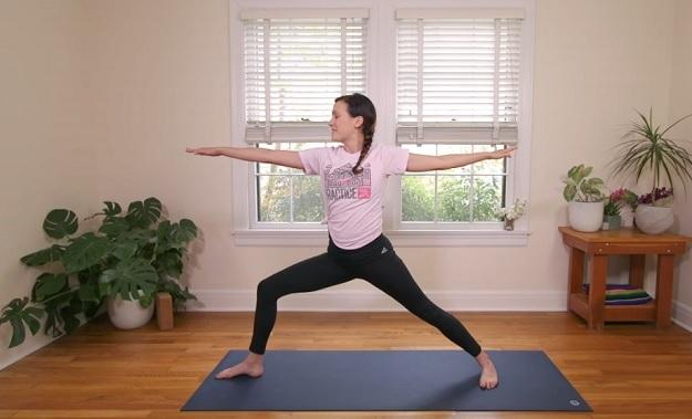 Shakti power flow yoga workout video