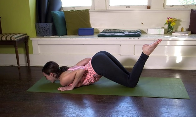 Caterpillar Pose or Eight-Limbed Pose yoga tutorial