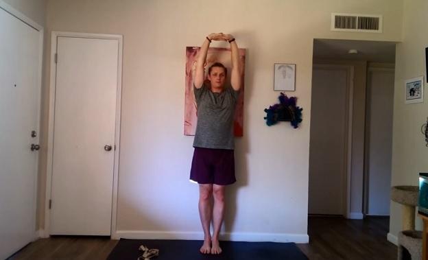 Upward bound fingers pose