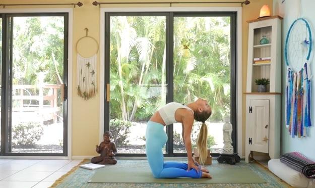 Heart chakra yoga video