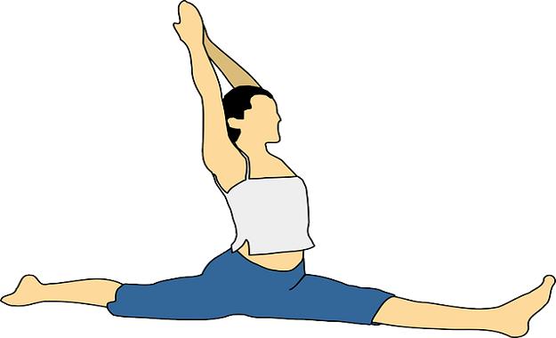 Monkey pose yoga tutorial
