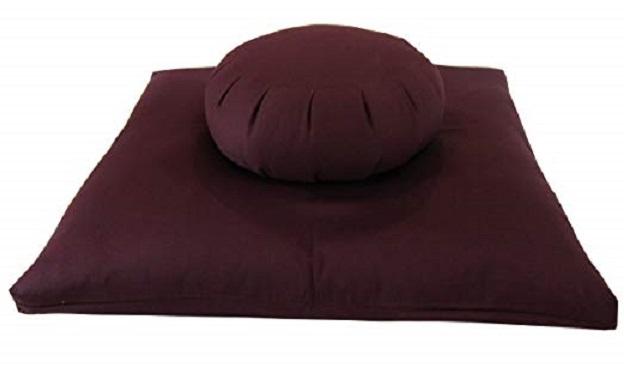 Buckwheat Zafu & Zabuton meditation cushion set for yoga and meditation