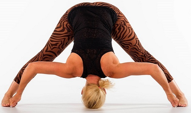 Wide-Legged Standing Forward Fold Pose yoga
