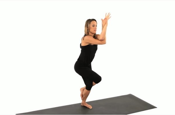 Eagle Pose tutorial beginner yoga pose