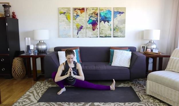 Half-Squat Pose yoga tutorial