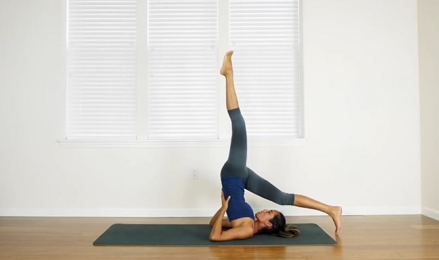 One-Legged Shoulder Stand Pose tutorial