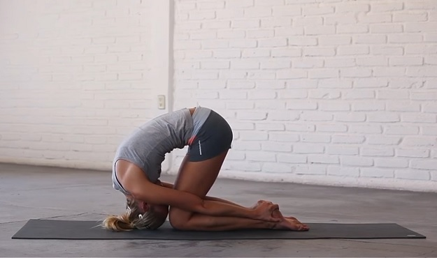 Rabbit Pose yoga tutorial