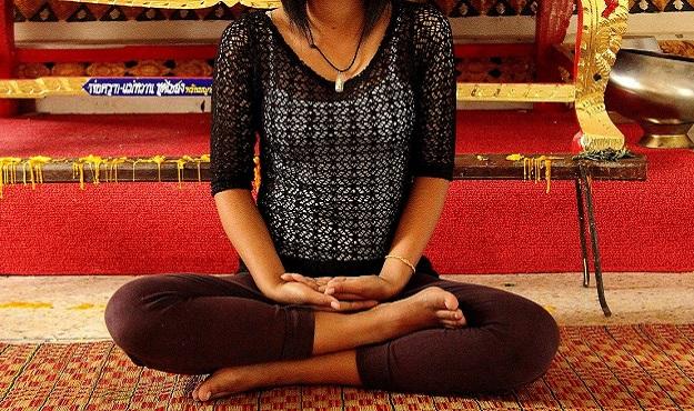 Half Lotus Pose yoga tutorial