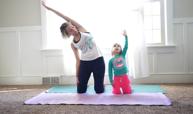 12-Minute at home yoga with kids video