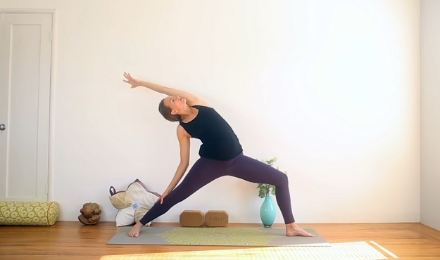 Morning prenatal yoga class video
