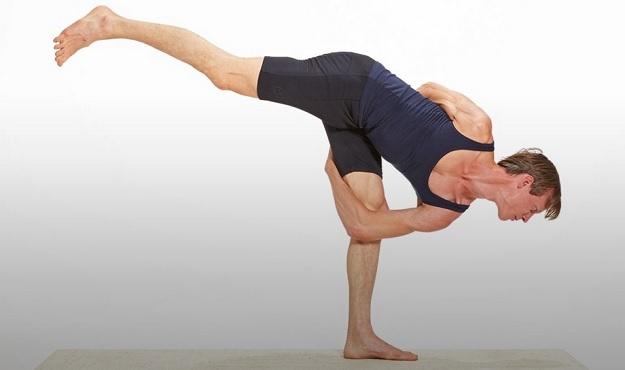 Bound Standing Splits Pose tutorial