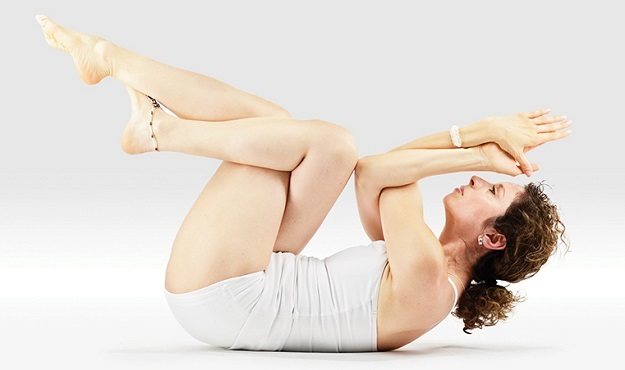 Reclined Eagle Pose tutorial