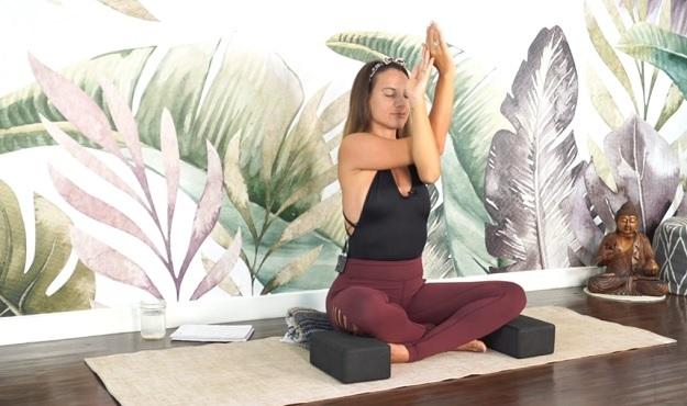 Healing yoga class