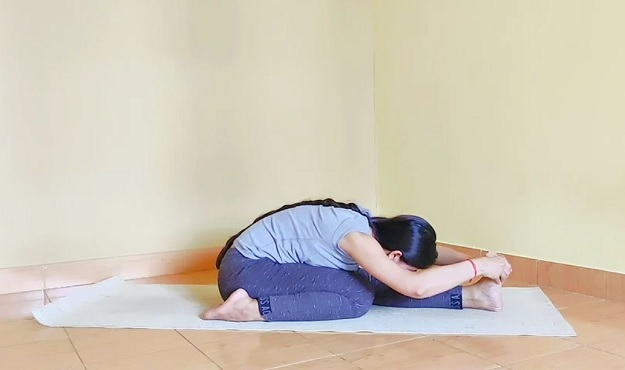 Three-Limbed Forward Bend Pose tutorial