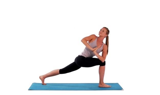 Crescent Lunge Twist Pose yoga tutorial