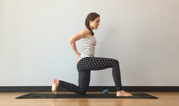 Yoga therapy for hip pain