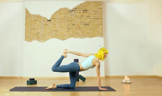 12-minute at-home yoga flow video
