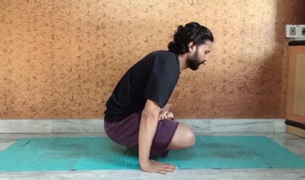 Swinging Lotus Pose tutorial