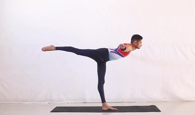 Airplane Pose yoga tutorial
